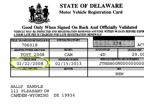 Delaware Division of Motor Vehicles - Online Services