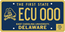 East Carolina University tag