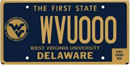 West Virginia University tag